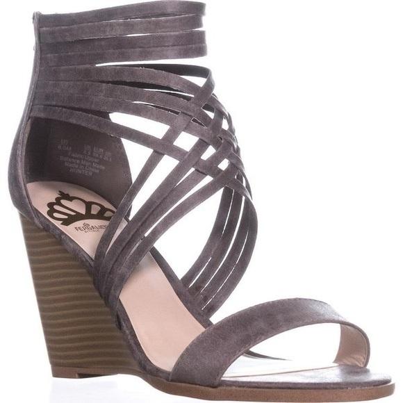 6fa533bbe9 Fergalicious Shoes | Hunter Strappy Wedge Sandals 95 | Poshmark